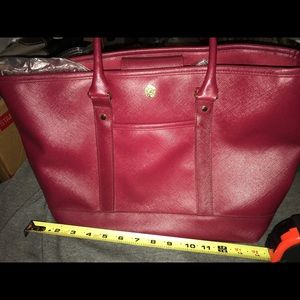 GUC Issac Mizrahi Red Tote Bag